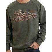 Stetson Western Sweatshirt Mens L/S Logo Gray 11-078-0297-0705 GY