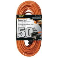 PowerZone Sjtw Round Medium Duty Extension Cord, 16/3, 50 Ft, Double