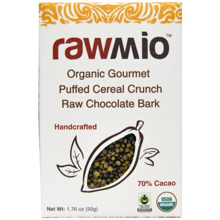 Gourmet Cereal (Rawmio, Organic Gourmet Puffed Cereal Crunch Raw Chocolate Bark, 1.76 oz (pack of 3) )