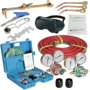 Zeny Portable Gas Welding Cutting Torch Kit w/Hose, Oxy Acetylene Brazing Professional Set with Goggles & Case