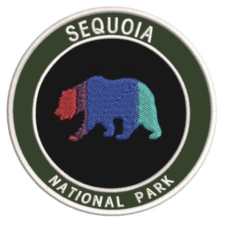 "Explore Sequoia National Park 3.5"" Embroidered Patch Iron or Sew-on Explorer Series Souvenir"