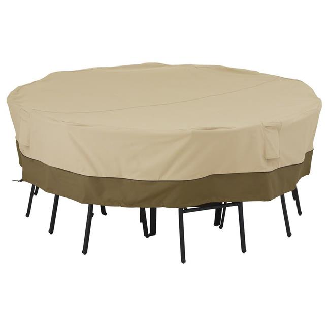 Veranda Medium And Large Square Patio Table And Chair Set Cover Pebble - Brown