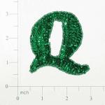Expo Letter Q Sequin Applique