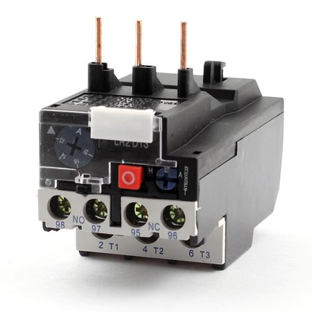 Unique Bargains JR2D13 1NO 1NC 3 Phases 12-18A Adjustable Electric Thermal Overload Relay ()