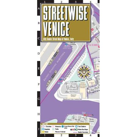 Streetwise venice map - laminated city center street map of venice, italy: (The City At The Center Of The World)