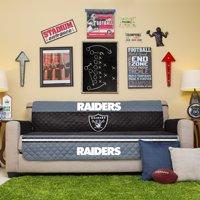 Oakland Raiders Sofa Protector - Black - No Size