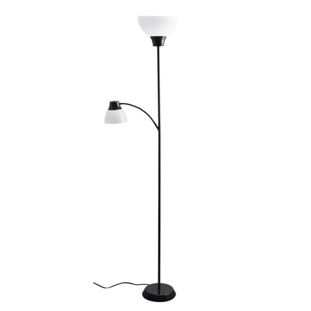 Mainstays 6ft led floor lamp with reading light walmartcom for Mainstays floor lamp with reading light parts