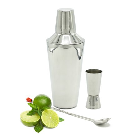 Bezrat Cocktail Shaker Bar Set: 24Oz Stainless Steel Drink Shaker Bottle, Measuring Jigger & Mixing Spoon Bartender Kit| Sturdy, Non-Rust Home & Commercial Bar Accessories| Top Gift Idea Bar Tools Set](Halloween Cocktail Ideas Uk)