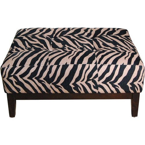 Square Ottoman Bench, Tiger