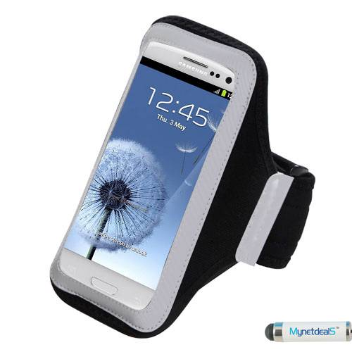 "Premium Large Size Sport Armband Case for iPhone 6 Plus ( 5.5"") - Black + MYNETDEALS Mini Touch Screen Stylus"