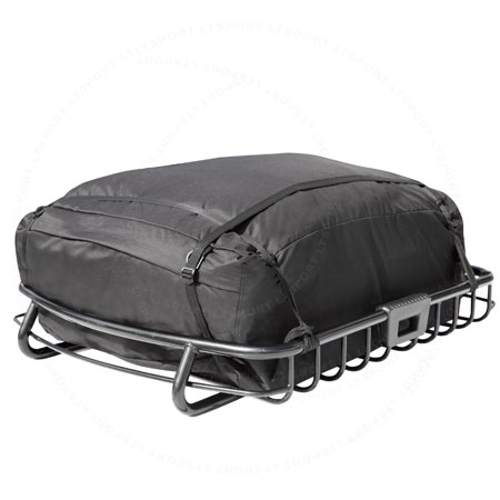 HEAVY DUTY TOP ROOF CARGO TRAVEL STORAGE BASKET + STORAGE BAG RACK 08-14 BUICK Fit Buick Enclave LaCrosse LeSabre Lucern