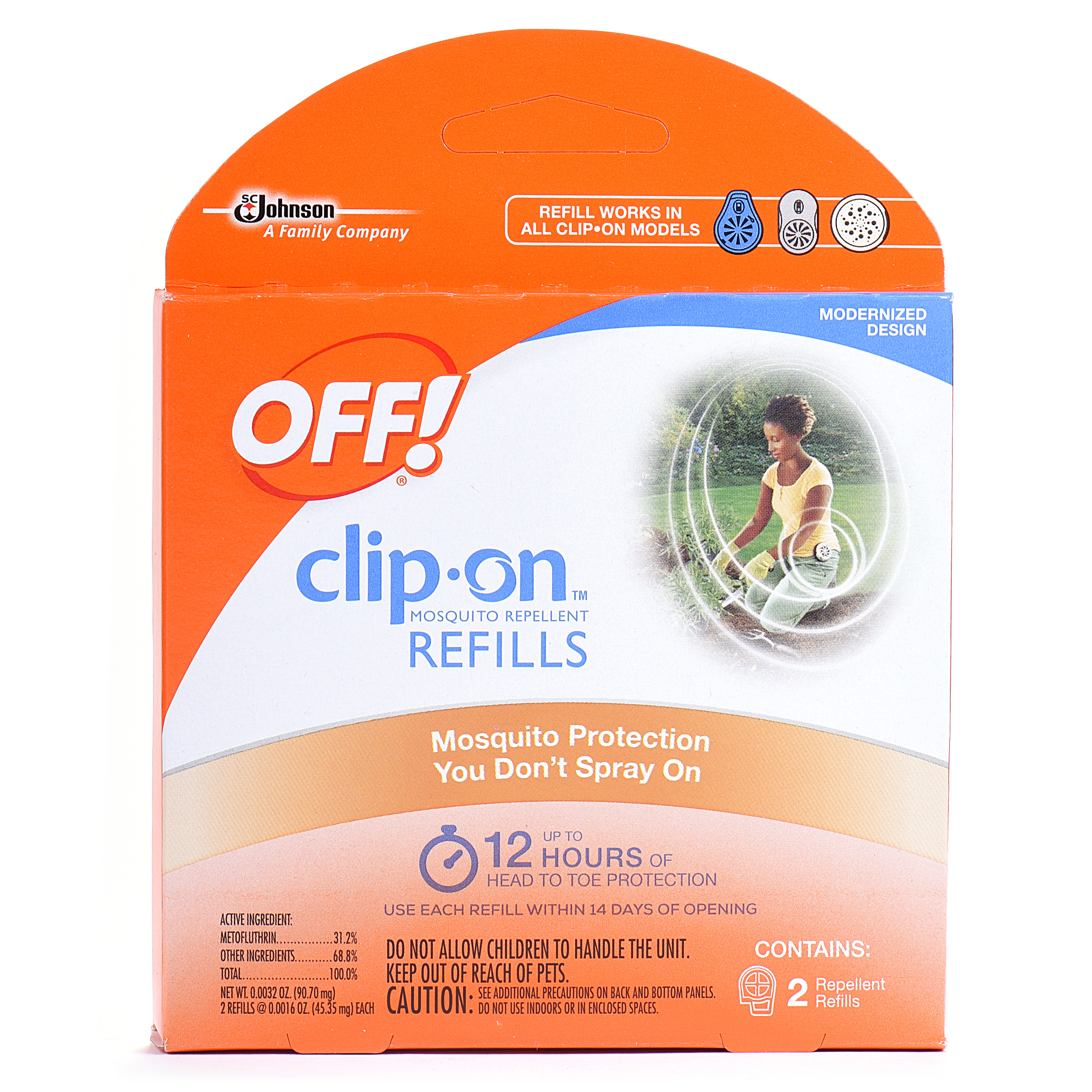 OFF! Clip-On Mosquito Repellent Refill, 2 count, 0.0032 Ounces