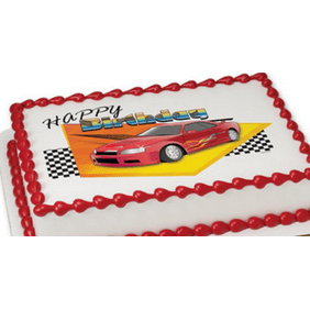Groovy Cars 3 Edible Icing Image For 8 Inch Round Cake Walmart Com Birthday Cards Printable Opercafe Filternl