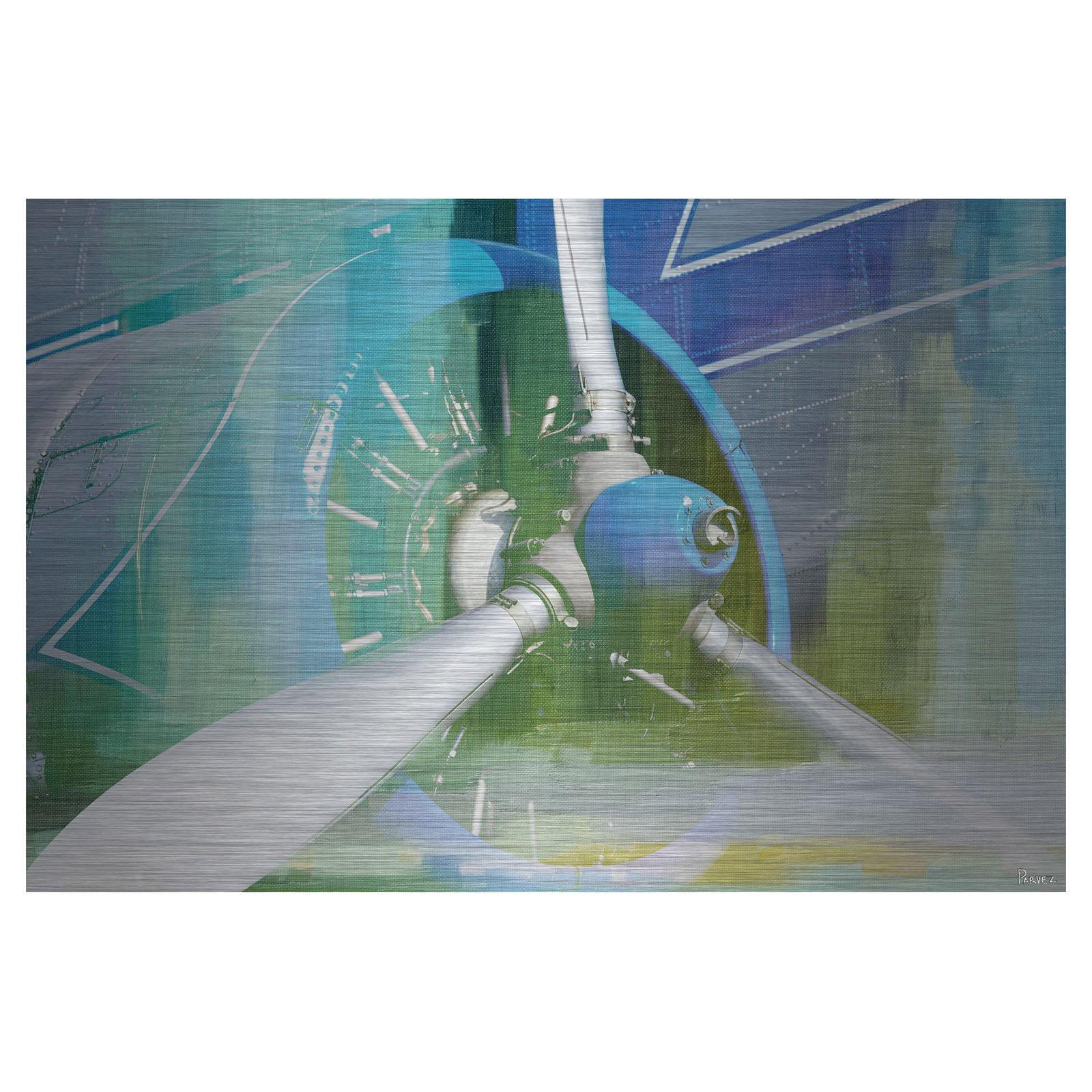 Parvez Taj Blades Painting Print on Aluminum