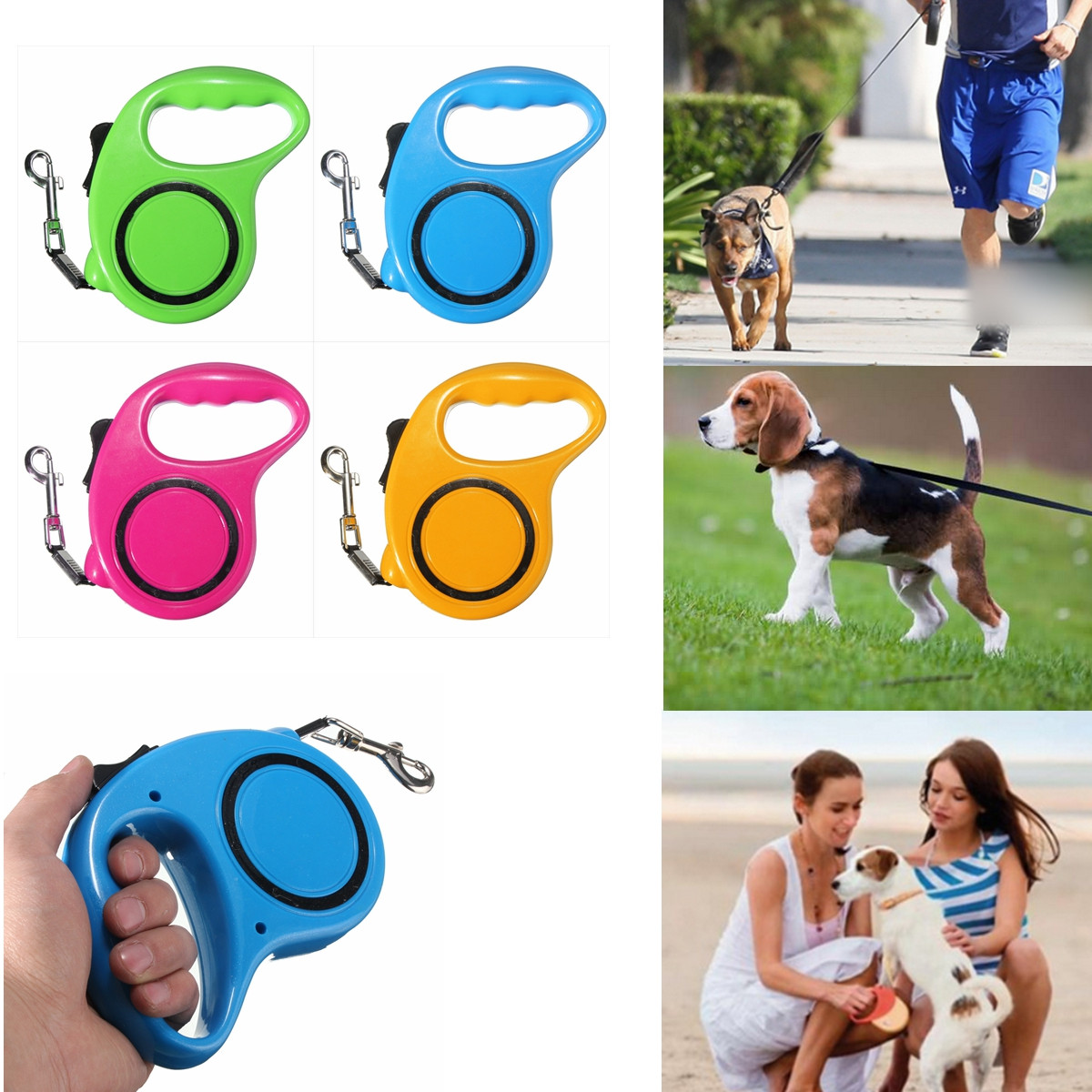 4 Colors 10FT/3M Retractable Leash Extendable Pet Dog Walking Training Leash Dogs Nylon Automatic Lead Gift For Friends