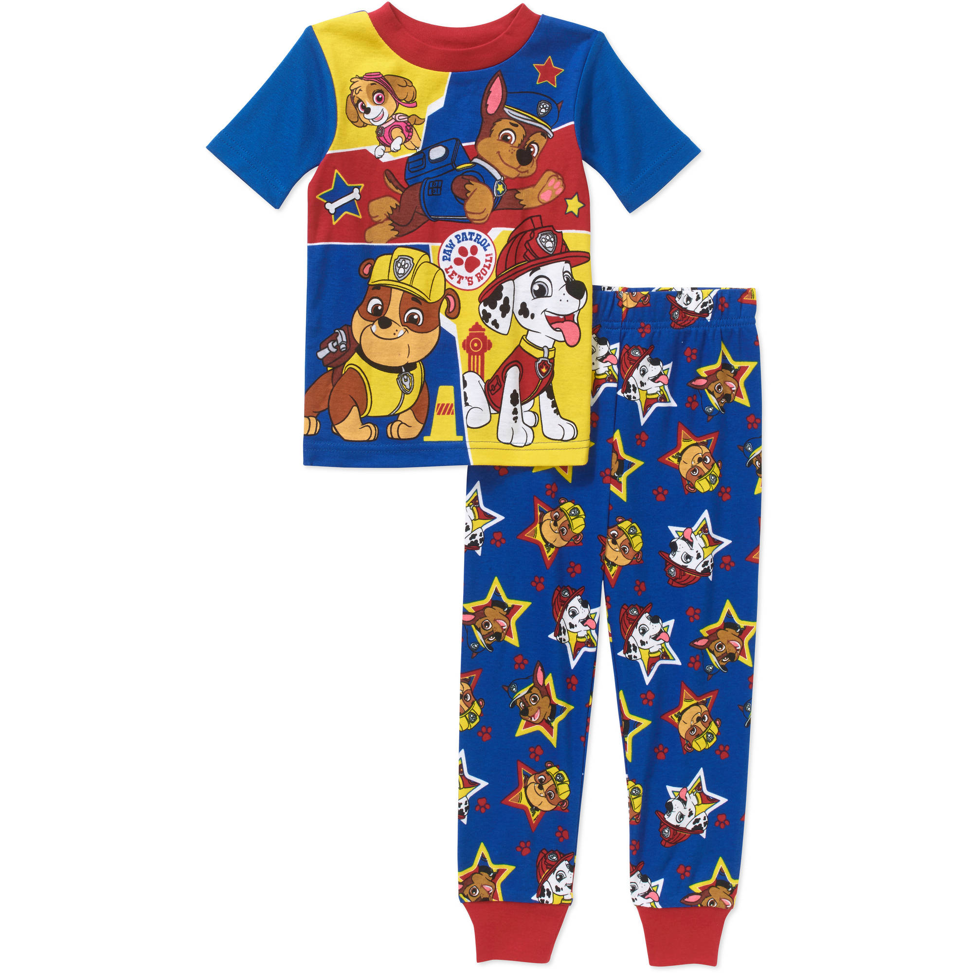Paw Patrol Toddler Boy Licensed Cotton Pajama Sleepwear Set