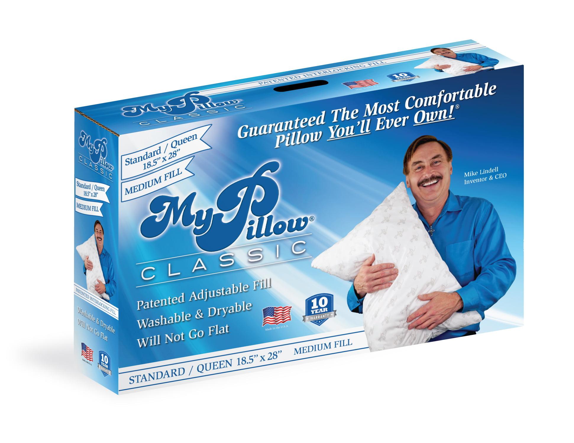 MyPillow Classic Queen Size Pillow, Medium Support