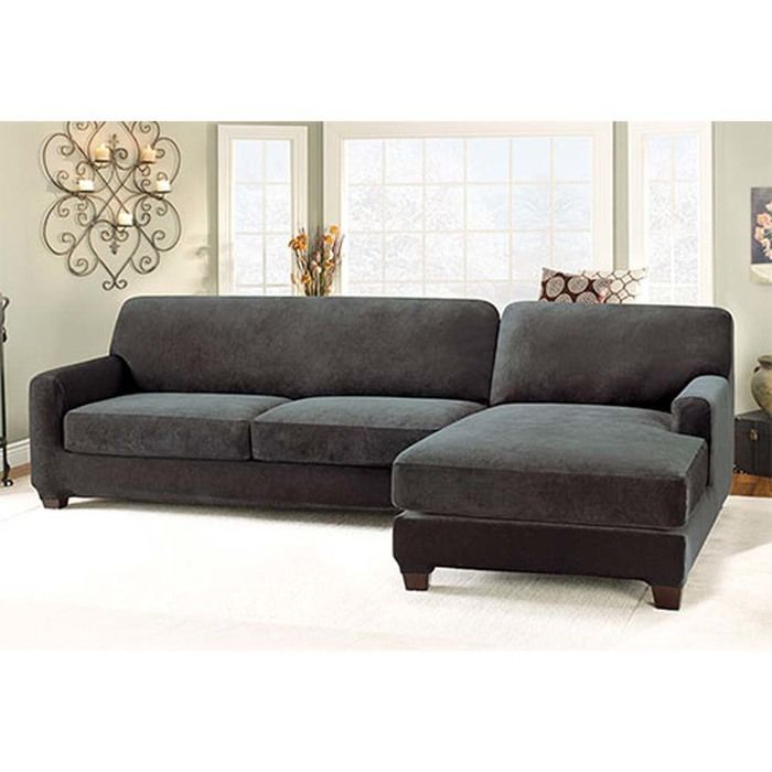 Stretch Pique Sectional Cover and Side Chaise Cover Walmart
