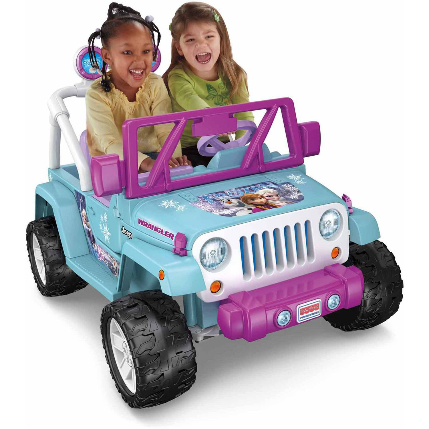 Power wheels disney frozen jeep wrangler 12 volt battery powered ride on walmart com