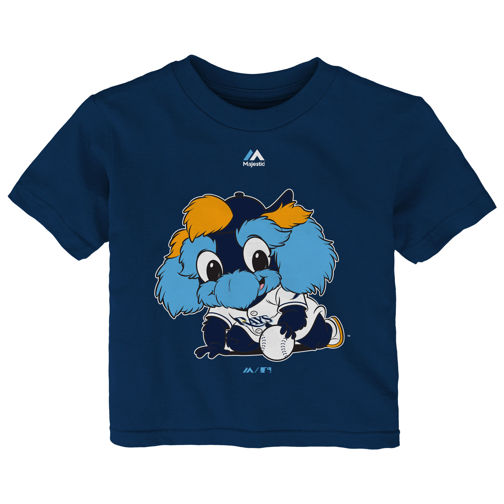 Tampa Bay Rays Majestic Infant Baby Mascot T-Shirt - Navy