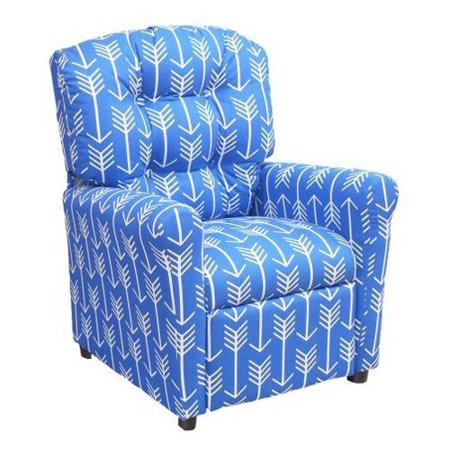 furniture 4 button back child recliner arrow cobalt