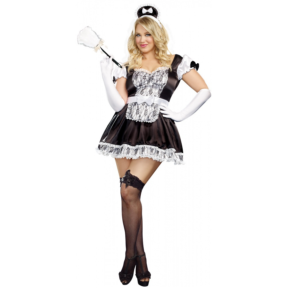 Adult Costume Luxe French Maid
