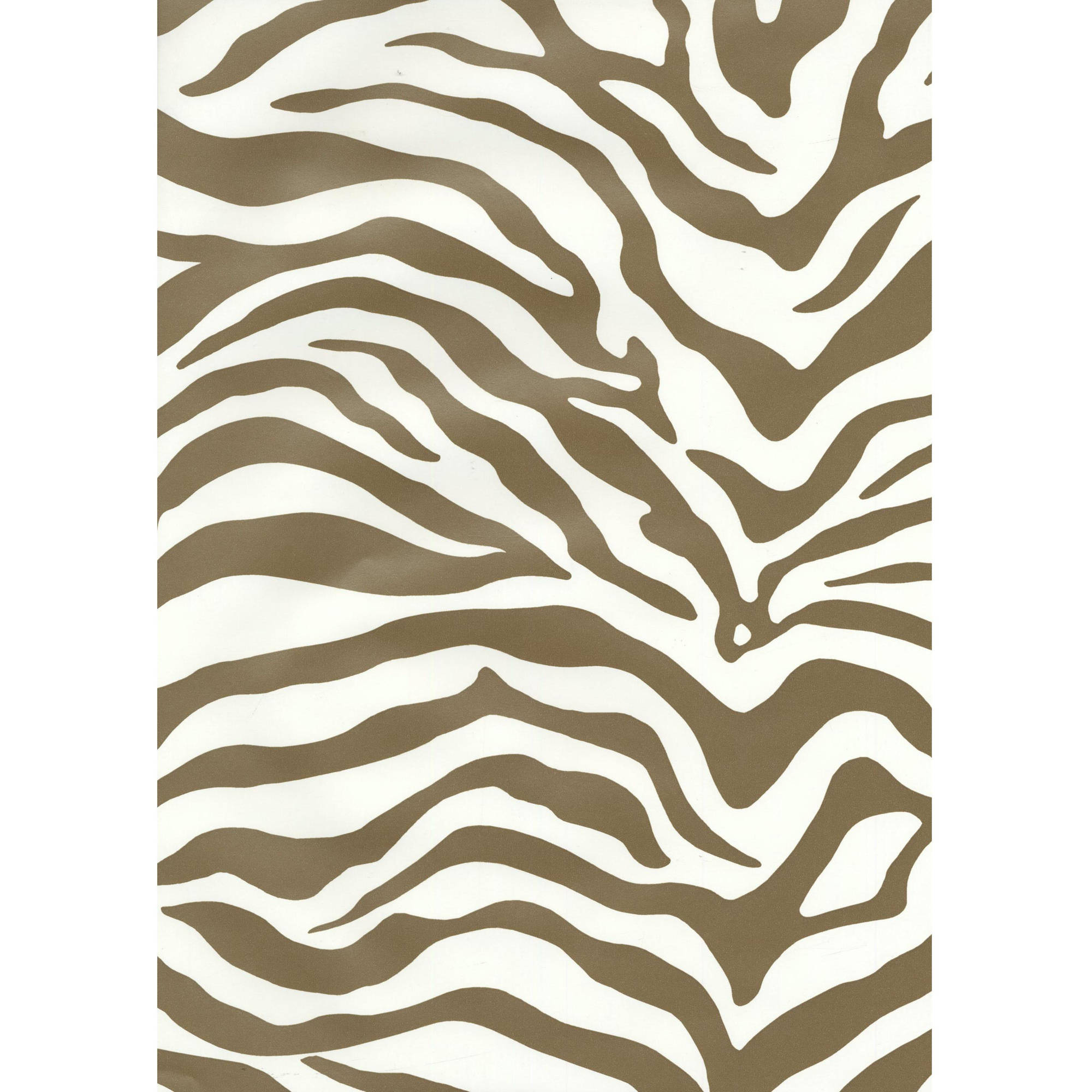 York Wallcoverings Risky Business Magnetism 33' x 20.5'' Zebra Print Foiled Wallpaper