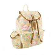 "No Boundaries 18"" Printed Canvas Buckle Flap Backpack"