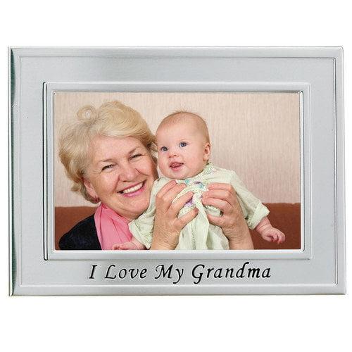 Lawrence Frames 506564 Lawrence Frames Brushed Metal 4x6 I Love Grandma Picture Frame - Sentiments Collection