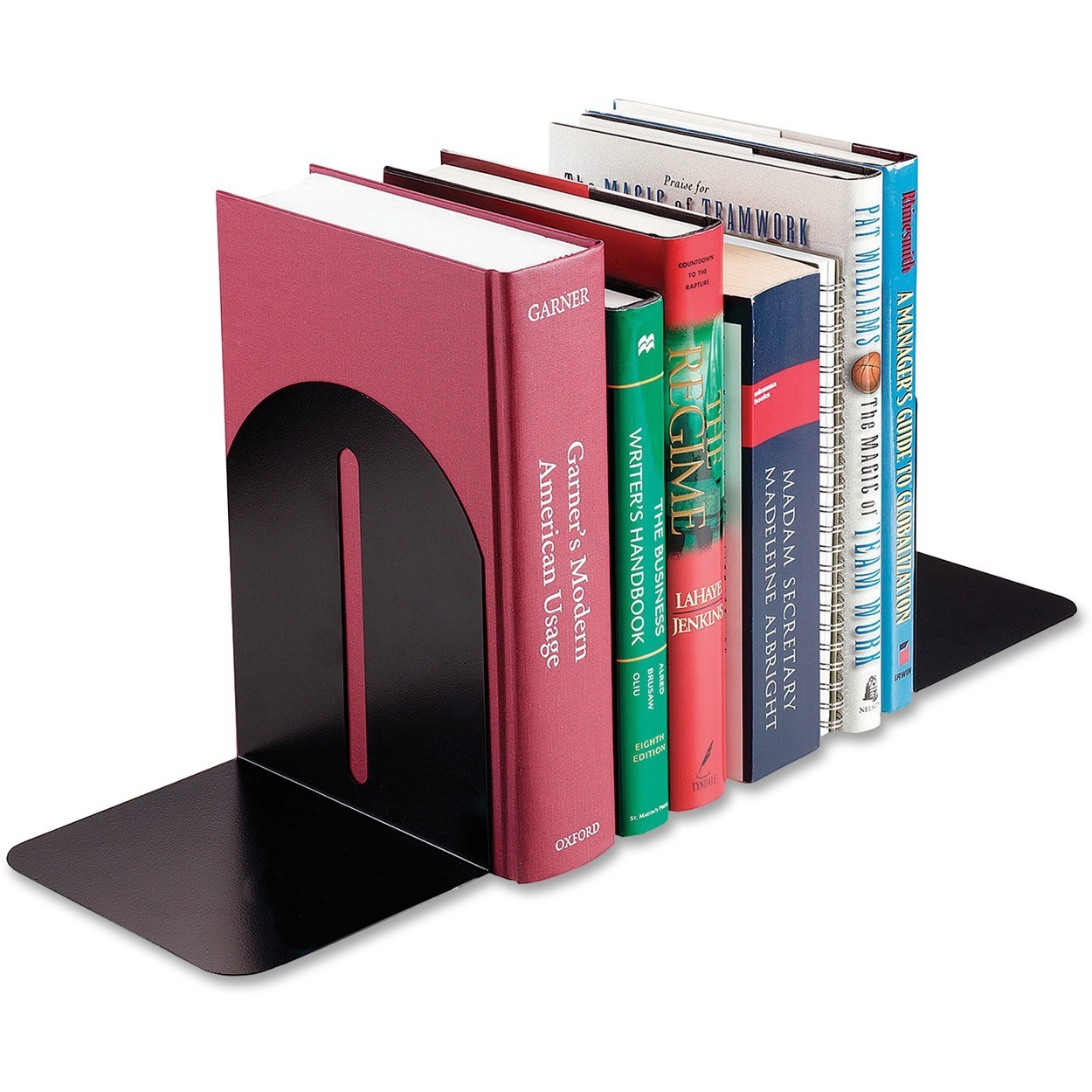 MMF, MMF241017104, Fashion Steel Bookends, 2 / Pair, Black