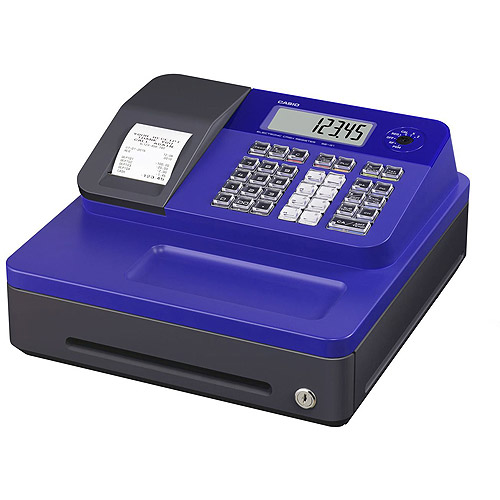 Casio SEG1SC Thermal Print Cash Register, Blue