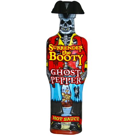Surrender the Booty Ghost Pepper Hot Sauce (Ass Kickin Ghost Pepper Hot Sauce Scoville)