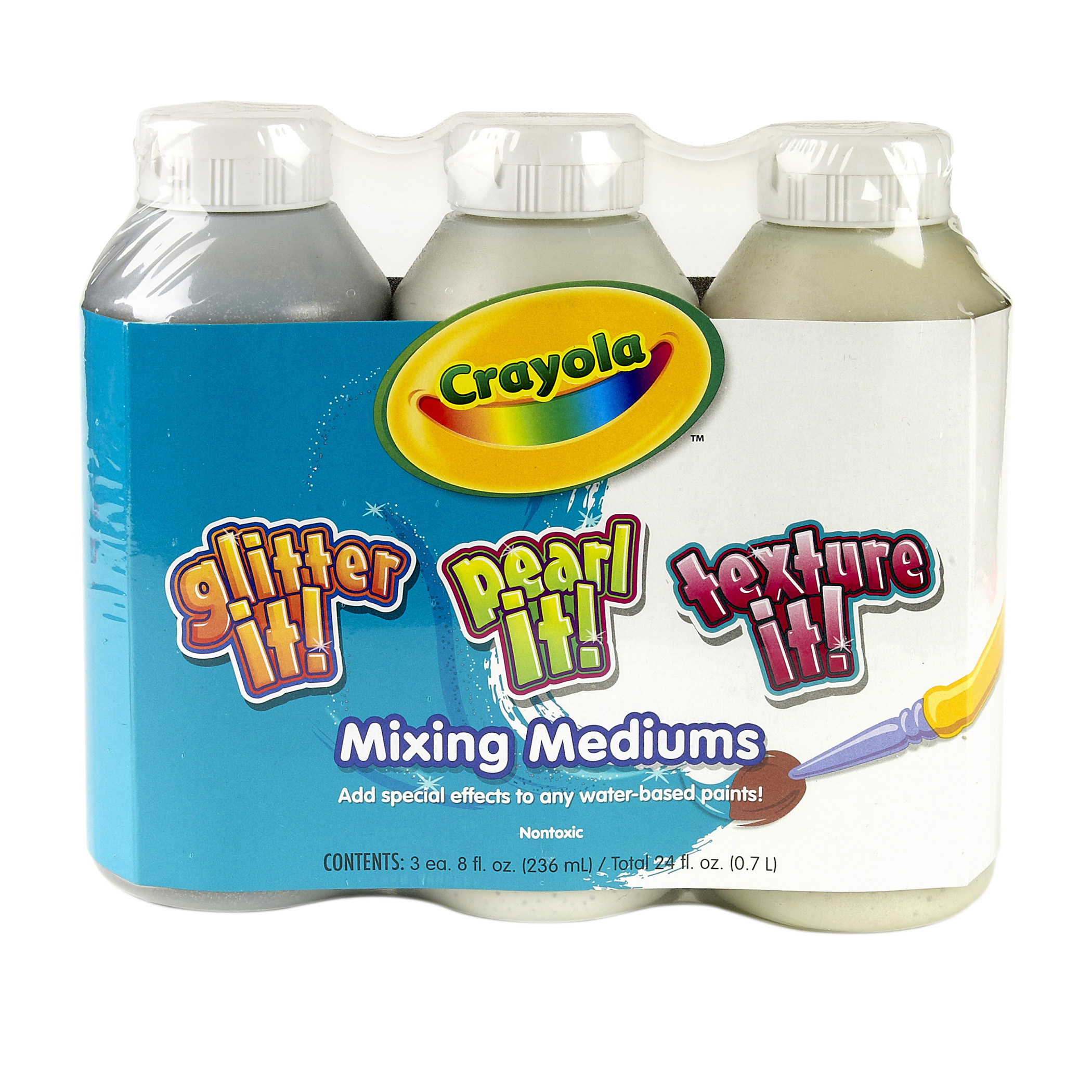 Crayola Mixing Mediums Paint Effects, Pack Of 3