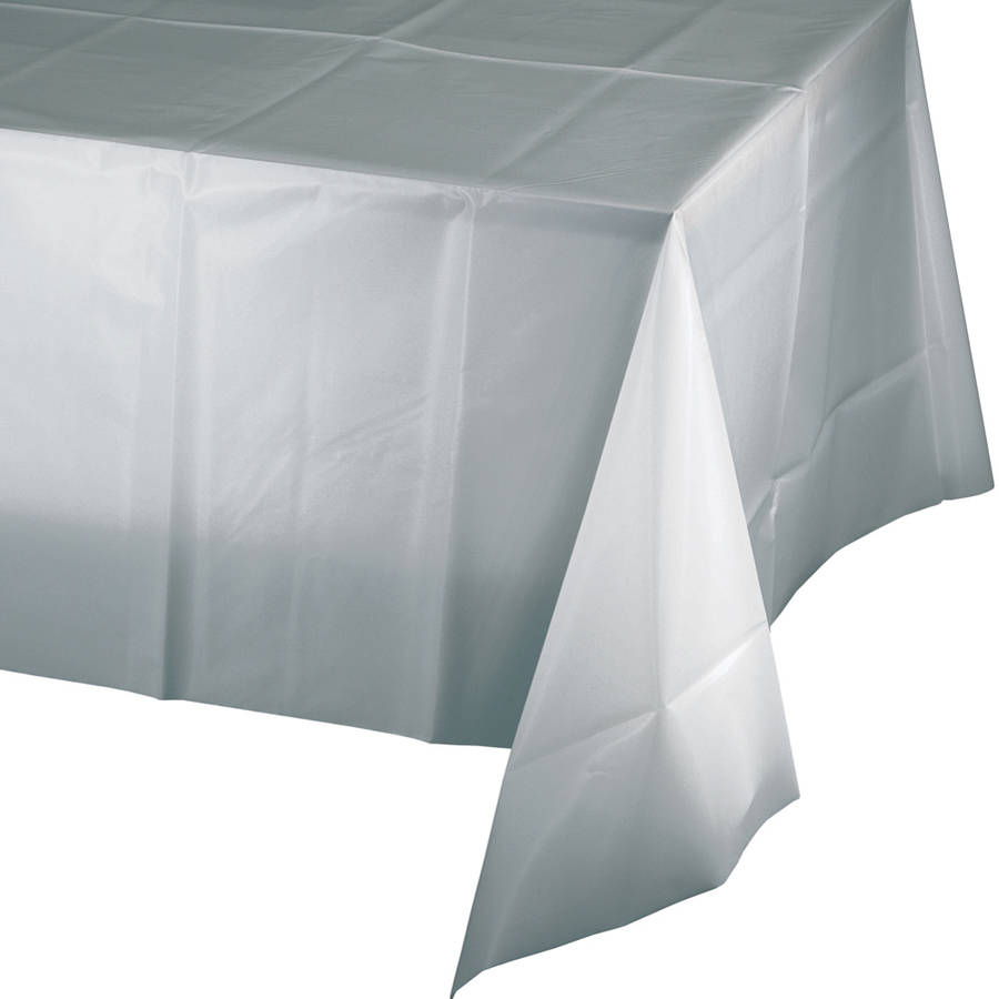 Shimmering Silver Table Cover