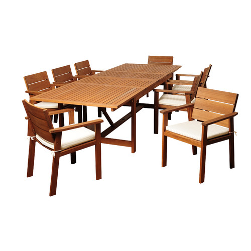 International Home Miami Ruby Eucalyptus 9 Piece Dining Set