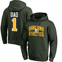Oakland Athletics Fanatics Branded 2019 Father's Day #1 Dad Pullover Hoodie - Green