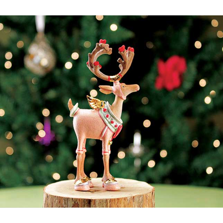 Patience Brewster Krinkles Dash Away Mini Cupid Reindeer