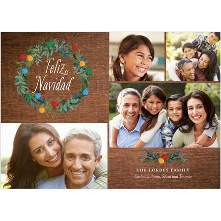 Feliz Navidad Gift Card (Feliz Poms - 5x7 Personalized Feliz Navidad)