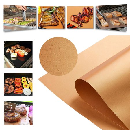 - Copper BBQ Grill Mat, 3/4/5 Pack Non-stick BBQ Grilling Bake Mats Cooking Sheet, Reusable and Easy to Clean