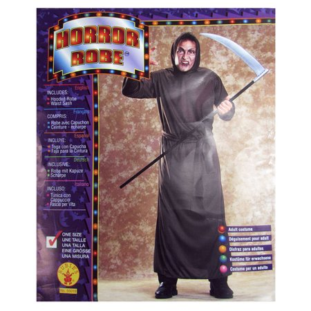 Rubie's Mens Horror Robe Scary Adult Halloween Costume, Brown, One Size (Non Scary Halloween Games)