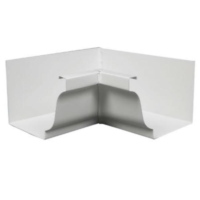 Amerimax Home Products 19201 Galvanized Steel Inside Mitre, White - 4 in - image 1 de 1
