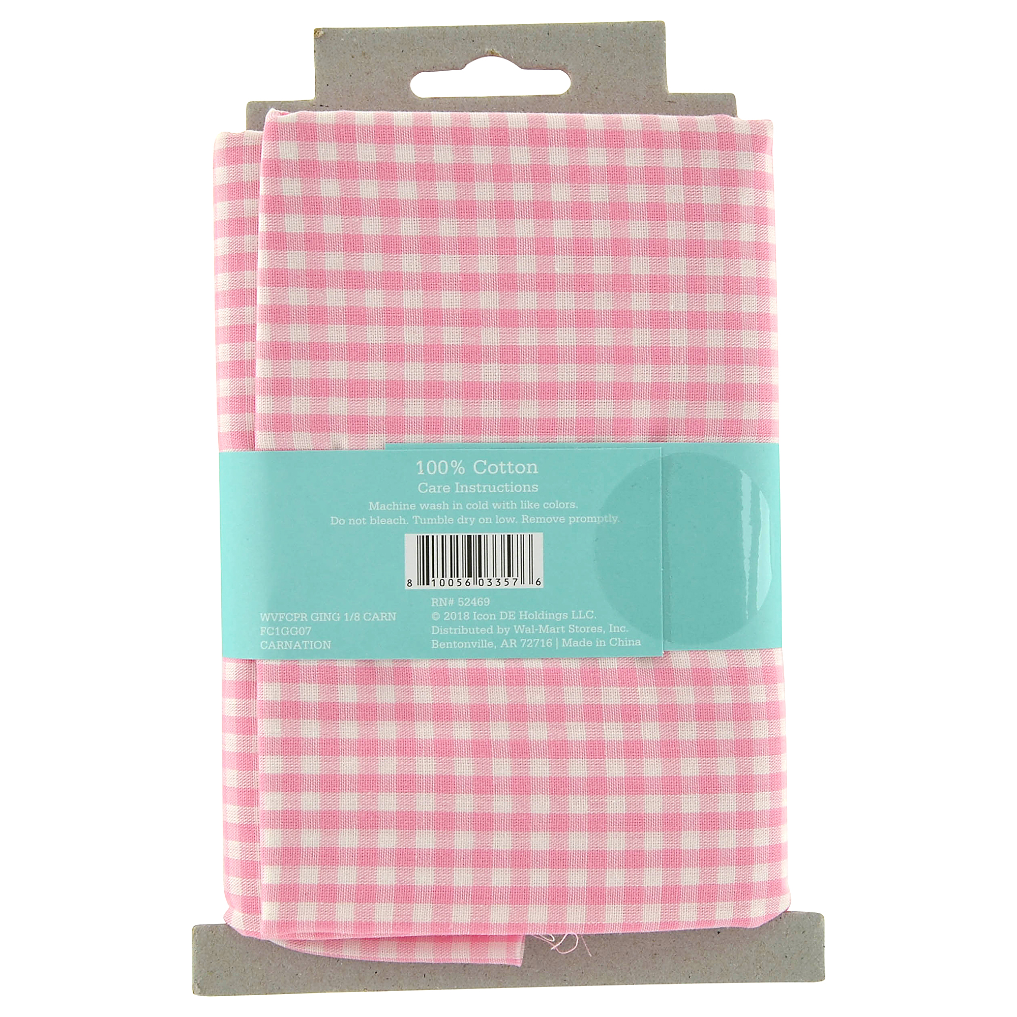 Waverly Inspirations 100% Cotton Fabric, 1 yard, Gingham Carnation