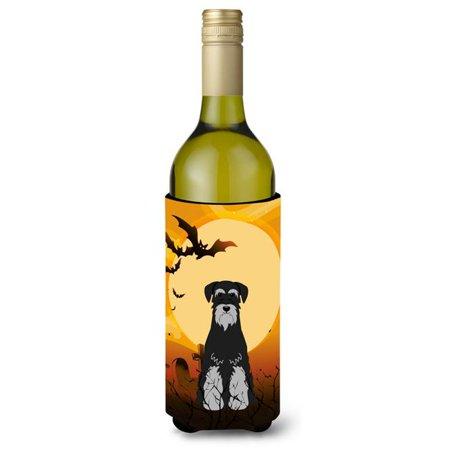 Halloween Standard Schnauzer Black & Grey Wine Bottle Beverge Insulator Hugger - image 1 de 1