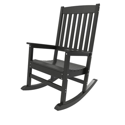 Porch Rocker by Malibu Outdoor - Glendale, Black