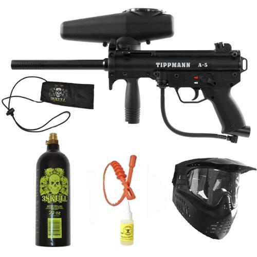 Tippmann A-5 w  Response Paintball Marker Gun Set + SQG + Oil + BC by