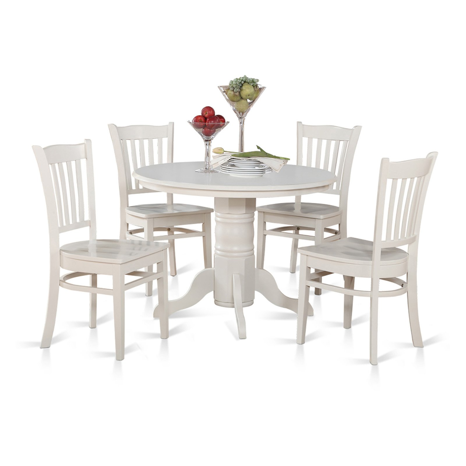East West Furniture Shelton 5 Piece Comb Back Dining Table Set