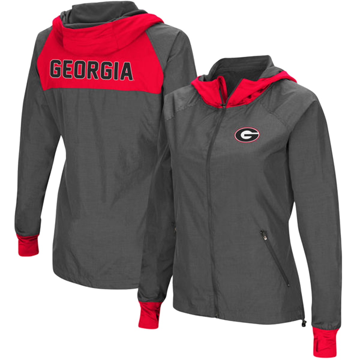 Colosseum Georgia Bulldogs Womens Backside Hooded Jacket by COUJ30617C GA