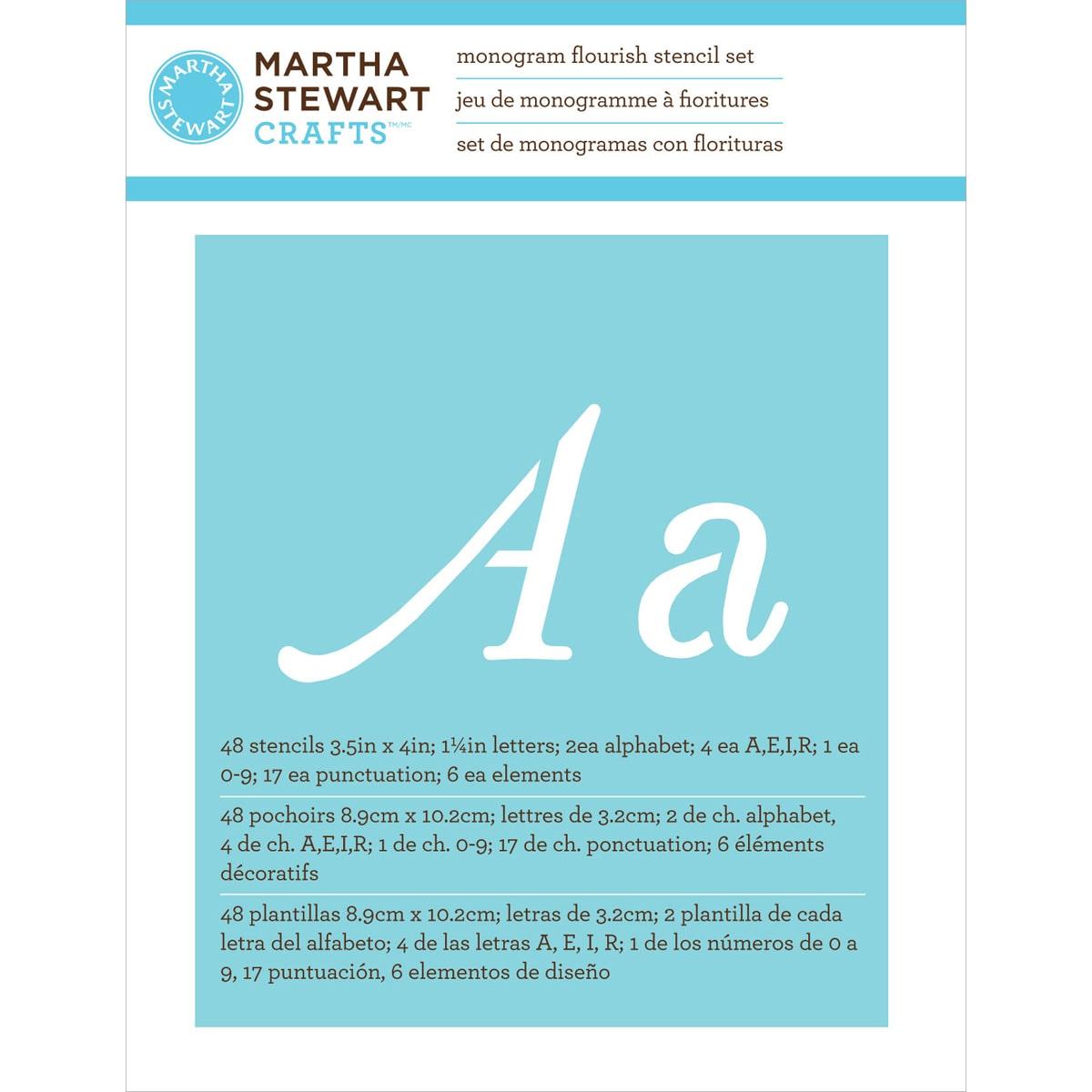 Martha stewart paper stencils 3 12x4 48 sheetspkg monogram martha stewart paper stencils 3 12x4 48 sheetspkg monogram flourish walmart spiritdancerdesigns Images