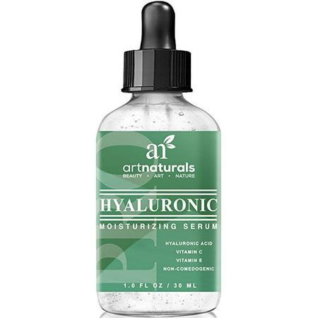 Art Naturals Acide Hyaluronique Sérum 1 oz -meilleurs Anti vieillissement produit de soin de la peau pour le visage Force clinique avec la vitamine C Sérum, vitamine E et thé vert -Réduit Wrinkles & More - pour la peau et Juvénile Radiant