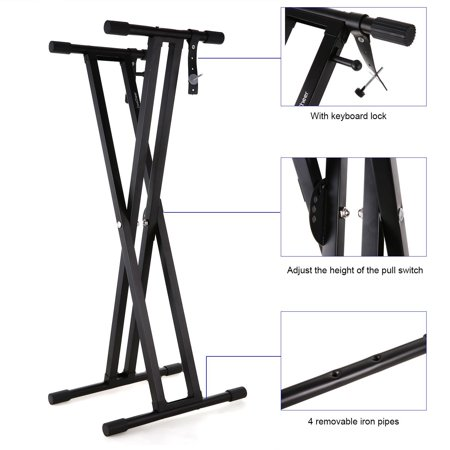 how to use keyboard stand straps